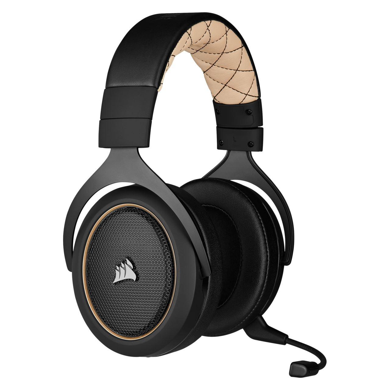 Corsair HS70 Pro Wireless Gaming Headset Schwarz Beige Sound Gaming