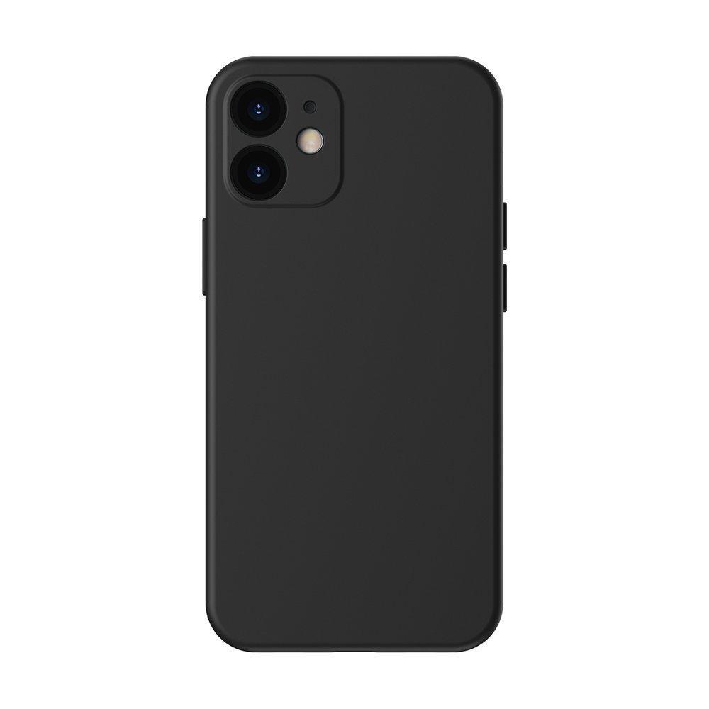 Baseus Liquid Silica Gel Case Flexibler handyhülle iPhone 12 Classic schwarz