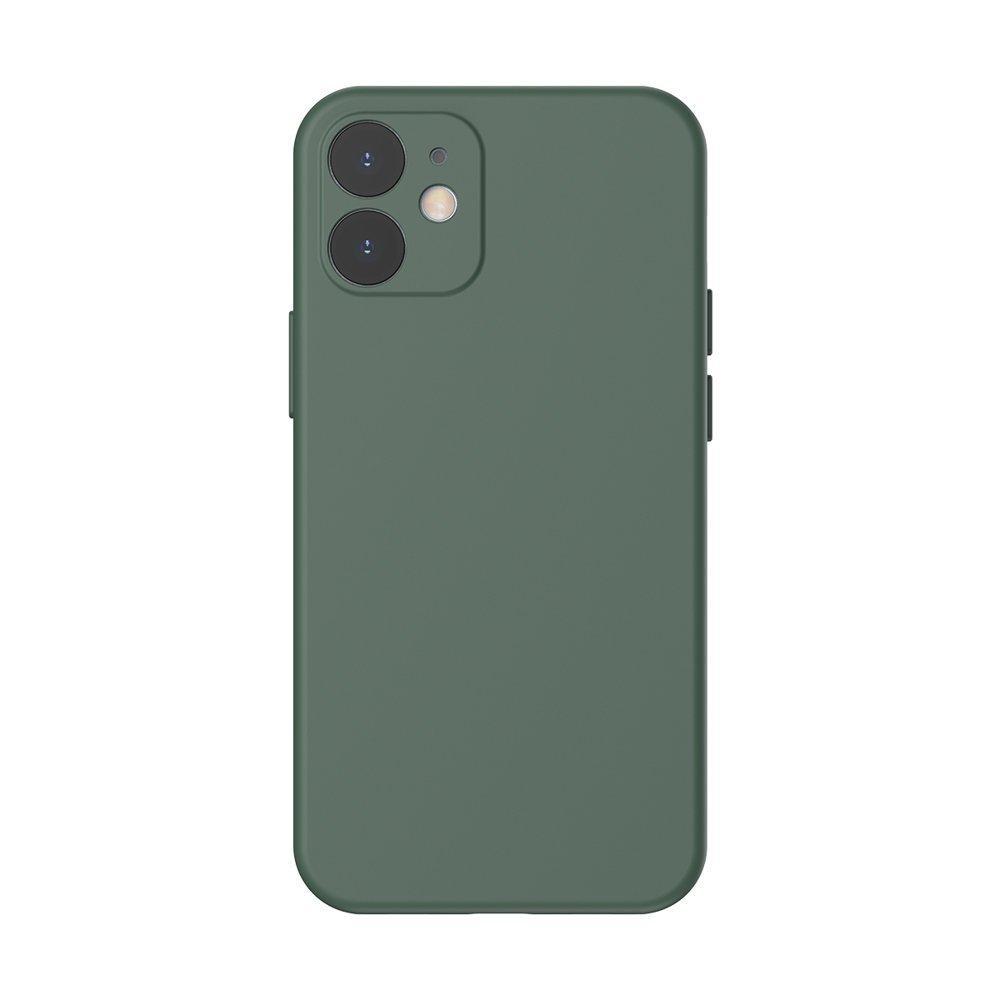 Baseus Liquid Silica Gel Case Flexibler handyhülle iPhone 12 mini Dunkelgrün