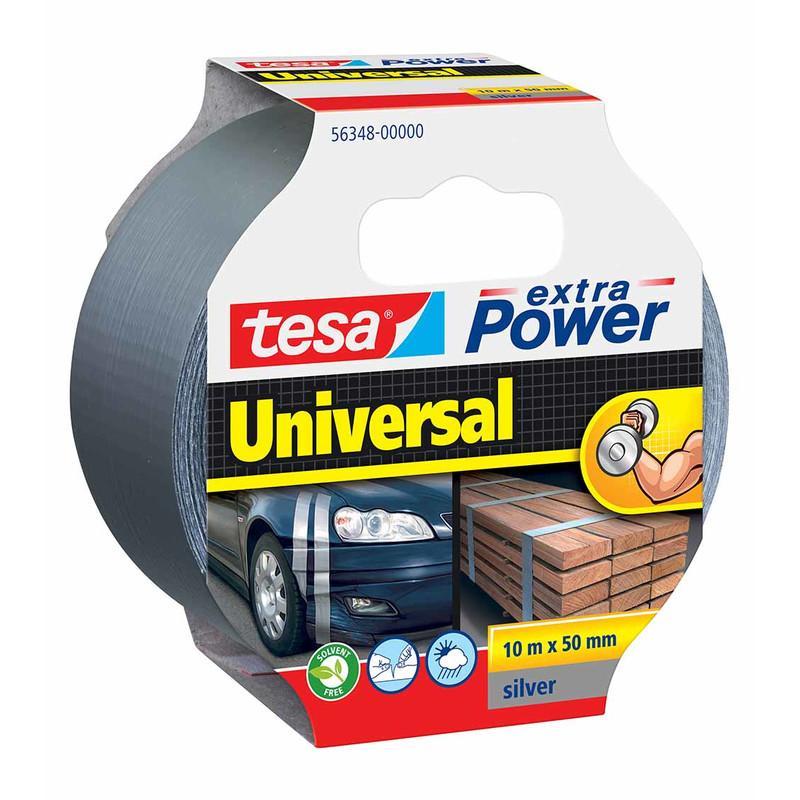 tesa Gewebeband 50mm extra Power Universal Silber 10m