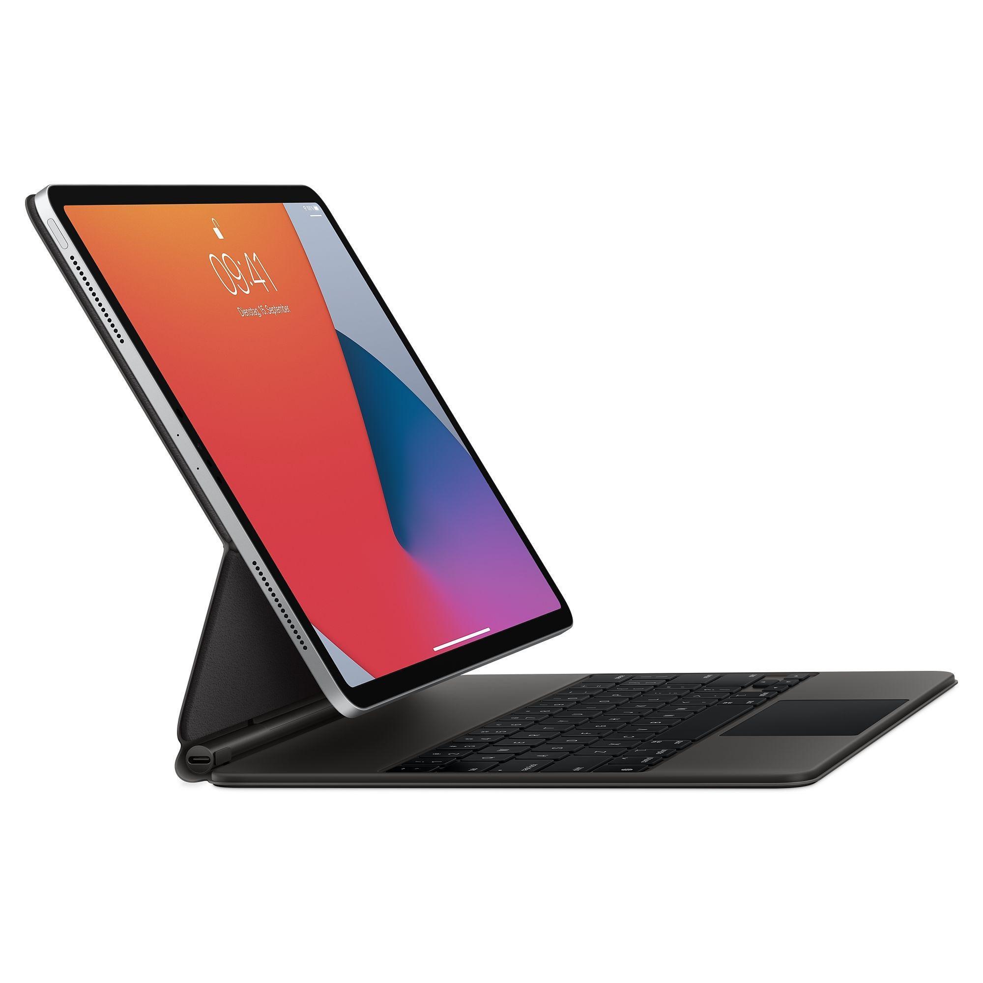 """Magic Keyboard für das 12,9"""" iPad Pro (4, Generation), Tastatur schwarz, deutsches Layout"""