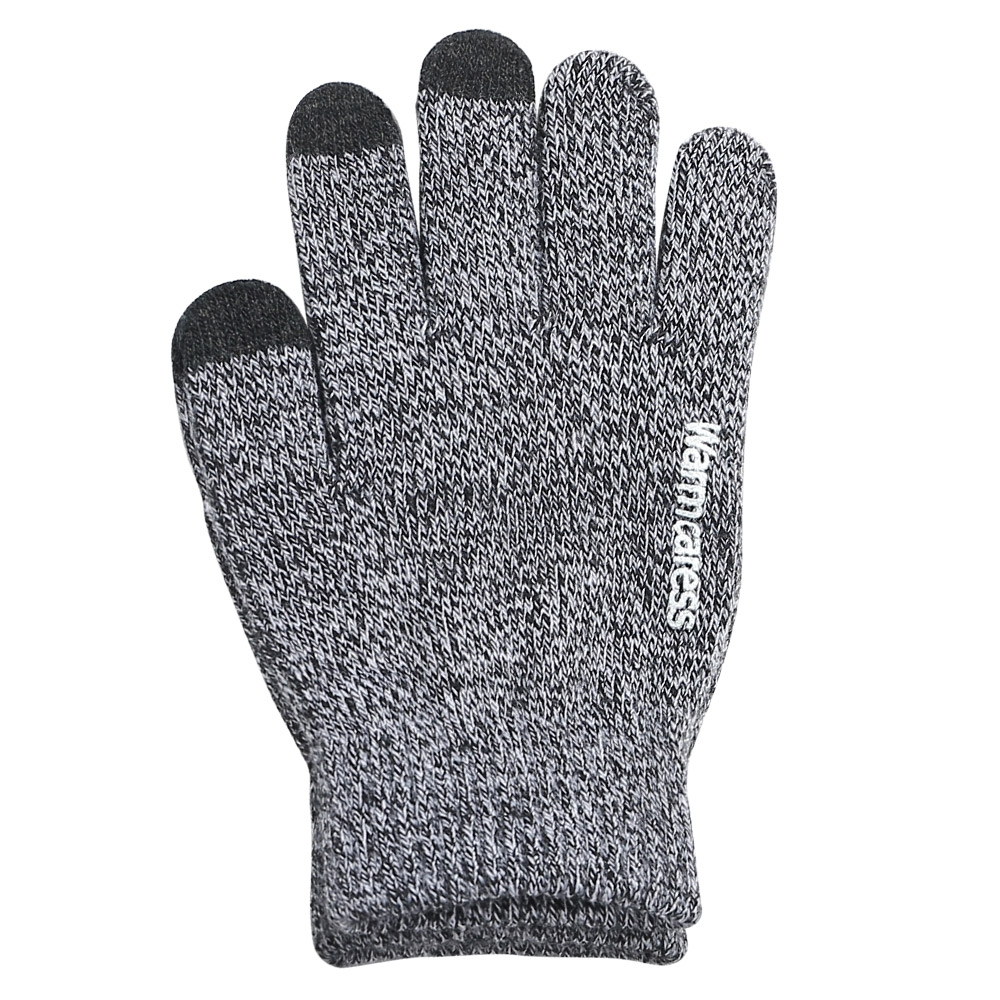 Touchscreen Winter-Handschuhe für Damen und Herren Rutschfest Fingerhandschuh hellgrau