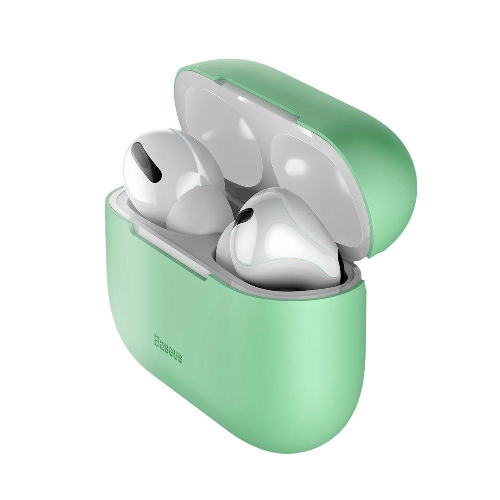 Baseus Silikon Schutztasche für Apple AirPods Pro Kopfhörer grün