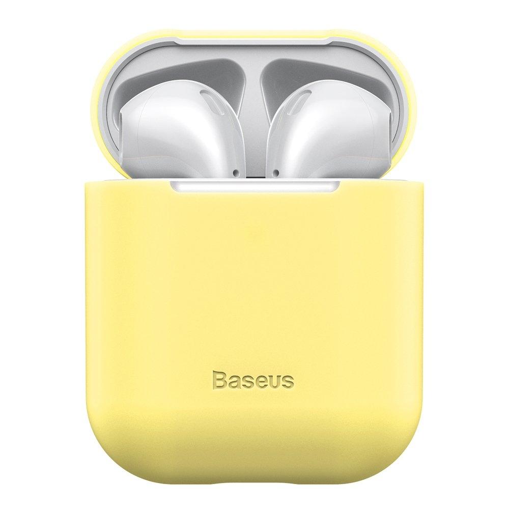 Baseus AirPods Silikon Schutztasche für Kopfhörer 2gen / 1gen gelb