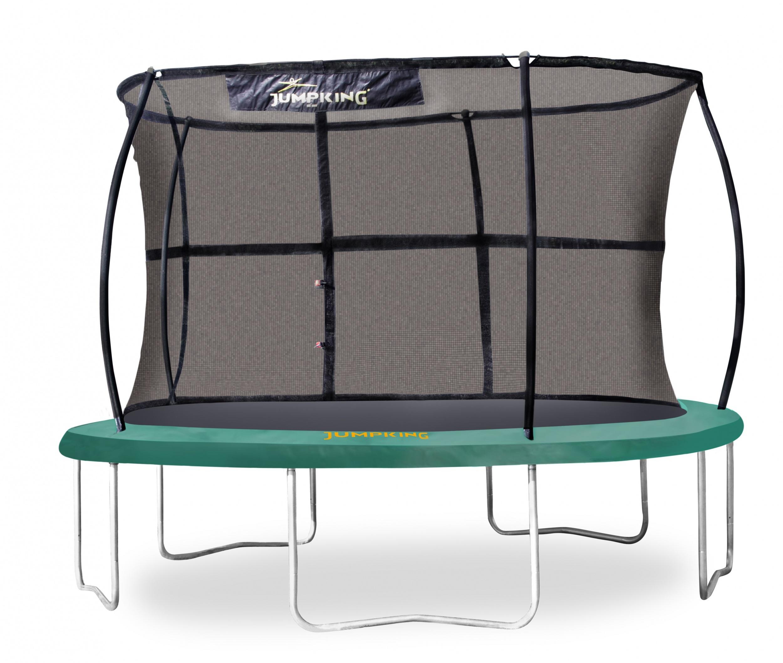 Jumpking trampolin mit Sicherheitsnetz JumpPod Classic 305 cm grün