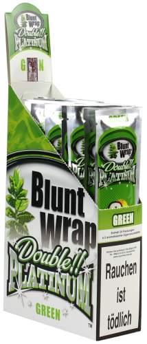 Blunt Wrap Double Platinum im 2er Pack, Green (Apple Martini) 25er Display