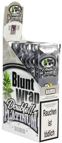 Blunt Wrap Double Platinum im 2er Pack, Silver (Berries) 25er Display