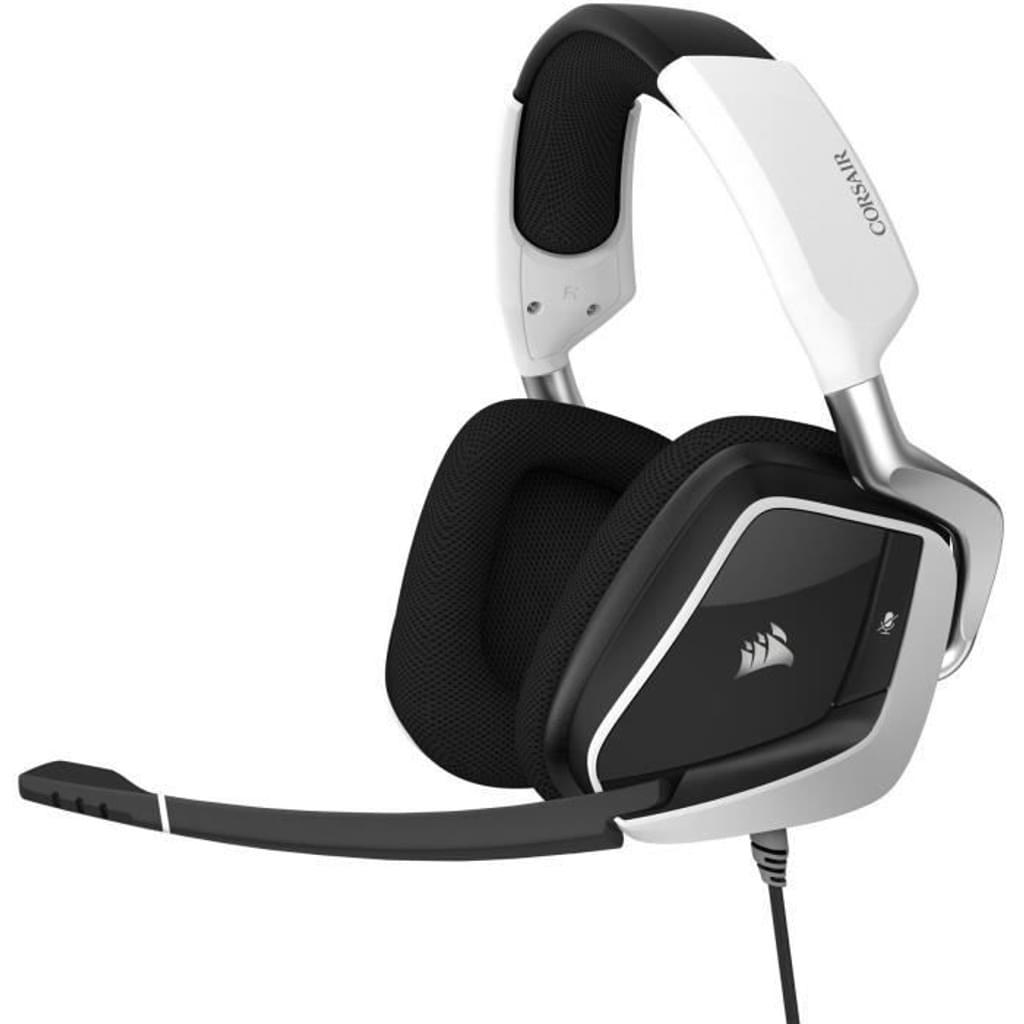 Corsair VOID RGB ELITE Gaming Headset Weiß Schwarz Stereo Virtual Surround