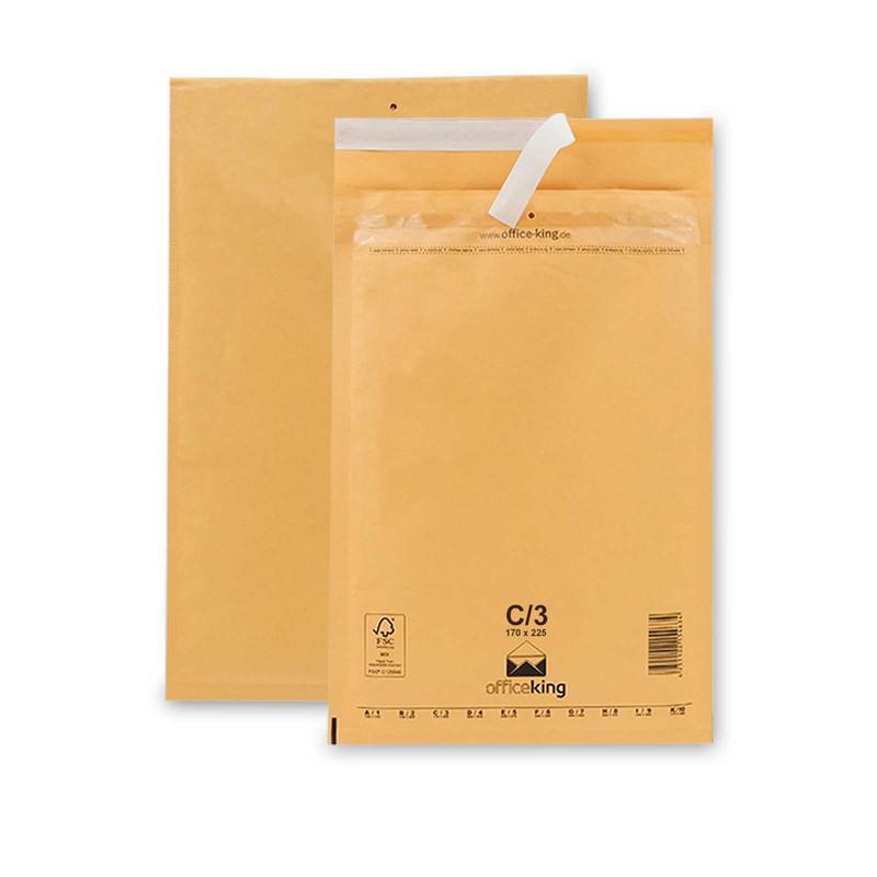100 C3 Luftpolstertaschen Braun 170 x 225 mm (DIN A5)