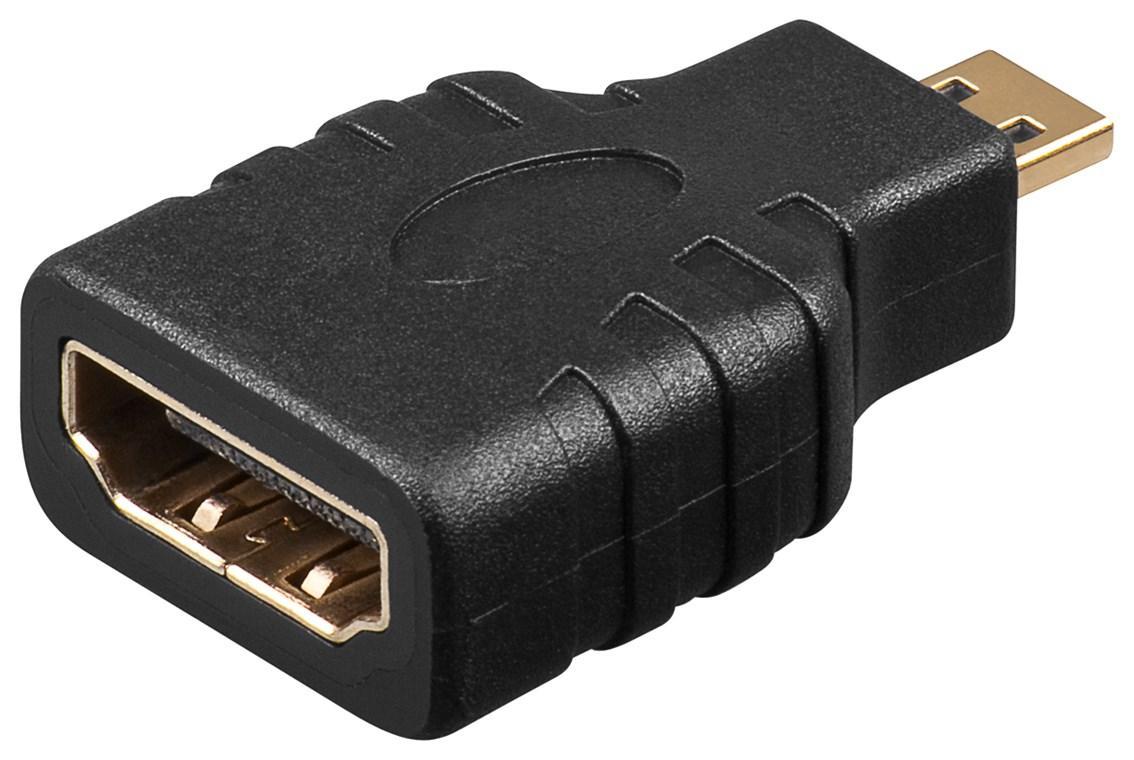 HDMI™ Adapter, vergoldet HDMI™-Buchse (Typ A) > HDMI™ Micro-Stecker (Typ D)