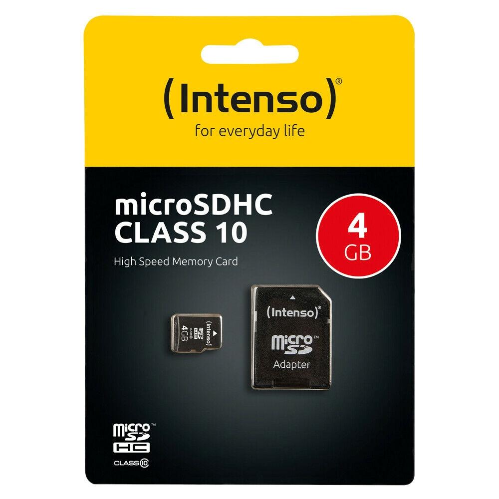 Intenso Micro SD Speicherkarte - Speicherkapazität: 4 GB / Class 10