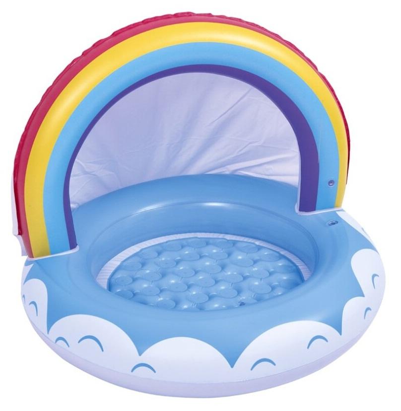Pool Aufblasbar Sommerpool Becken  - Auswahl: Pool rainbow junior 95 x 66 cm Vinylblau