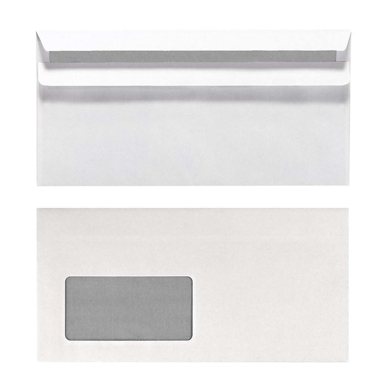 Herlitz Briefumschlag DIN lang Weiß mit Innendruck 100 Stück mit Fenster