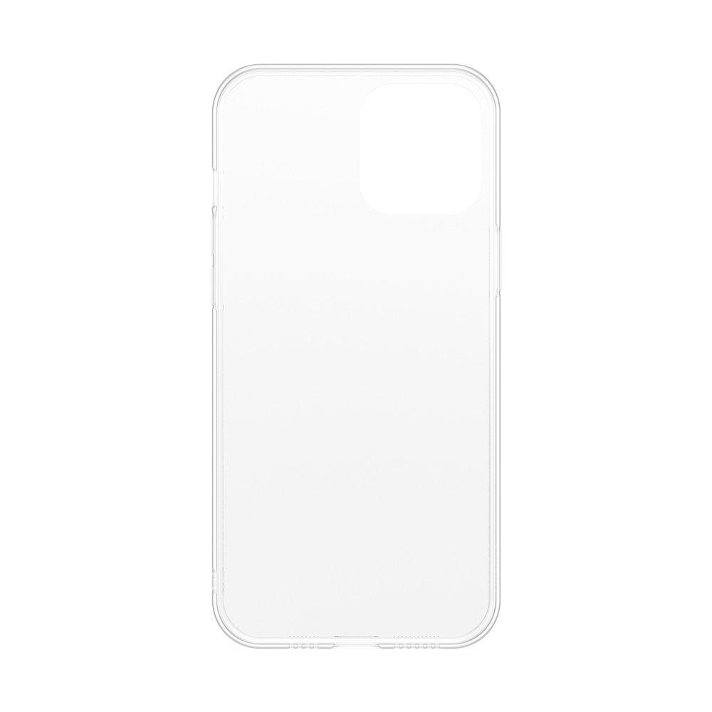 Baseus Frosted Glass Case Ein starres handyhülle mit einem flexiblen Rahmen iPhone 12 Pro / iPhone 12 Weiß