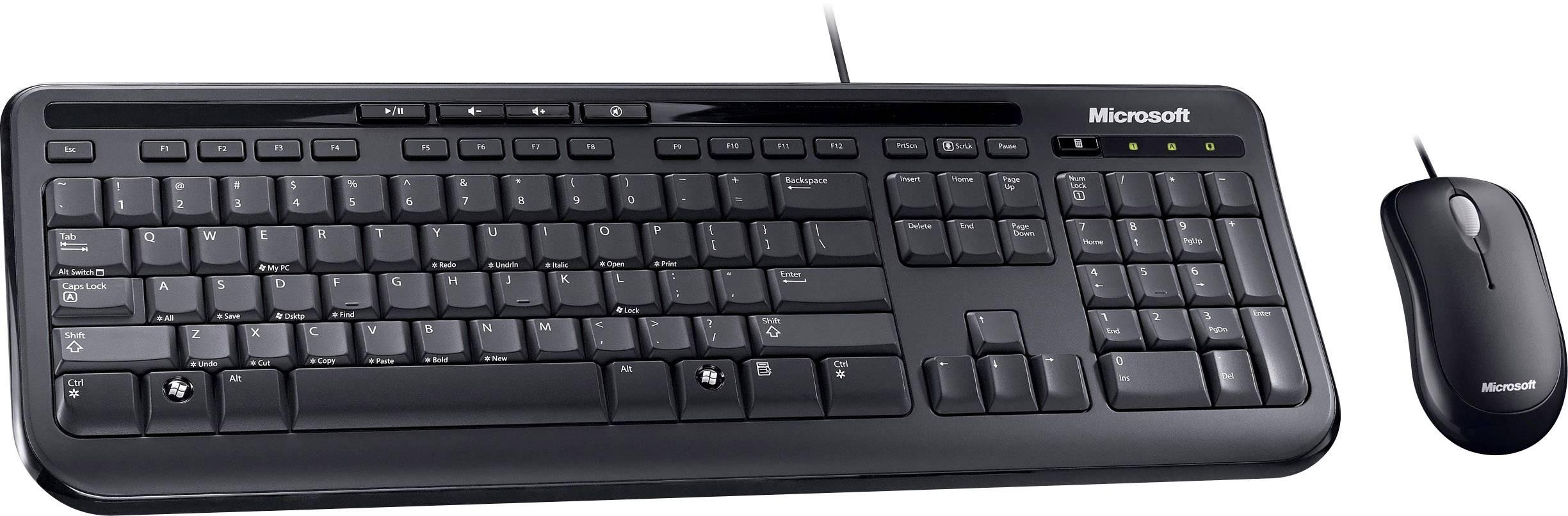 Microsoft Wired Desktop 600, Desktop-Set schwarz