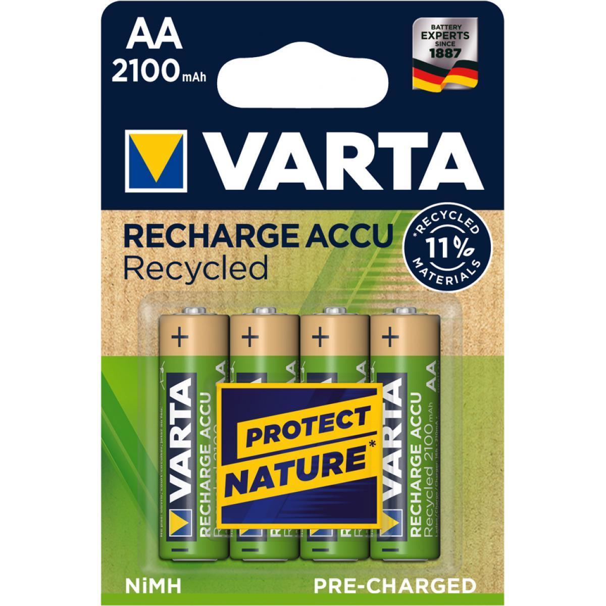 Varta Accu Recycled, Pre-charged, Retail Blister (4-Pack)