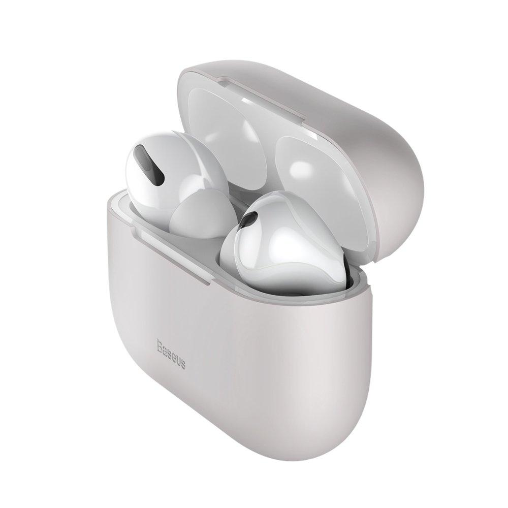 Baseus Silikon Schutztasche für Apple AirPods Pro Kopfhörer grau