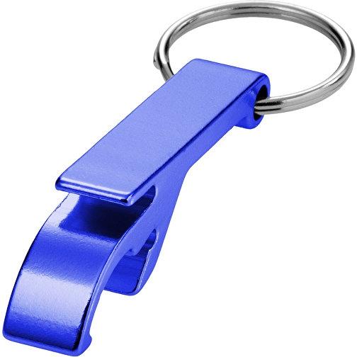 Toa Schlüsselanhänger mit Flaschen- und Dosenöffner blau