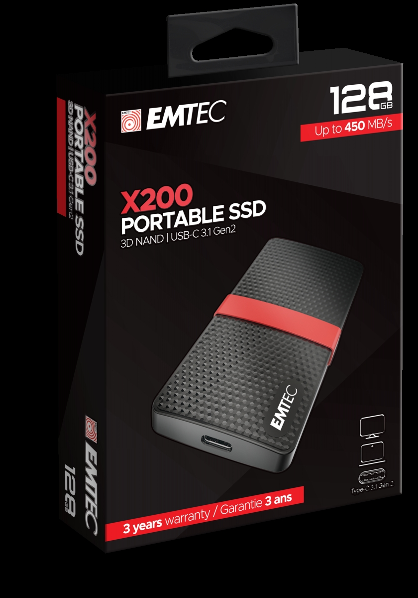 Emtec 128GB X200 Portable SSD Power Plus ECSSD128GX200