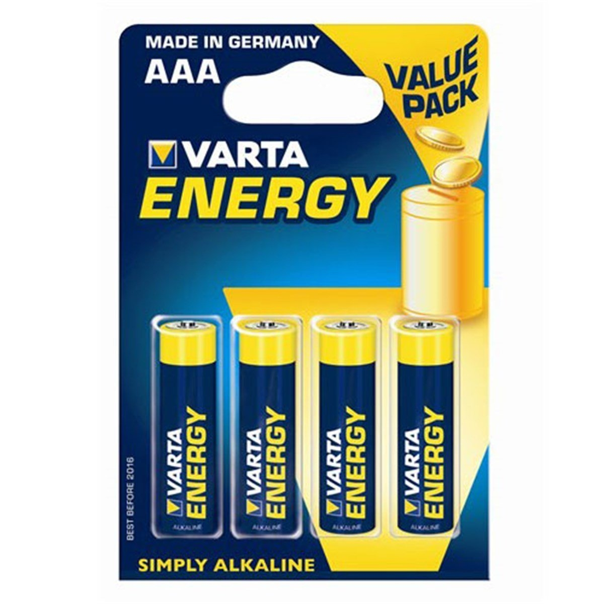 Varta Energy, Retail Blister (4-Pack)