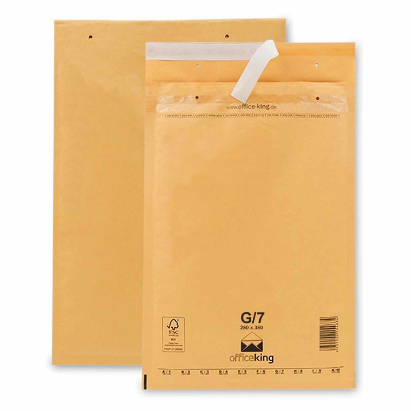 100 G7 Luftpolstertaschen Braun 250 x 350 mm