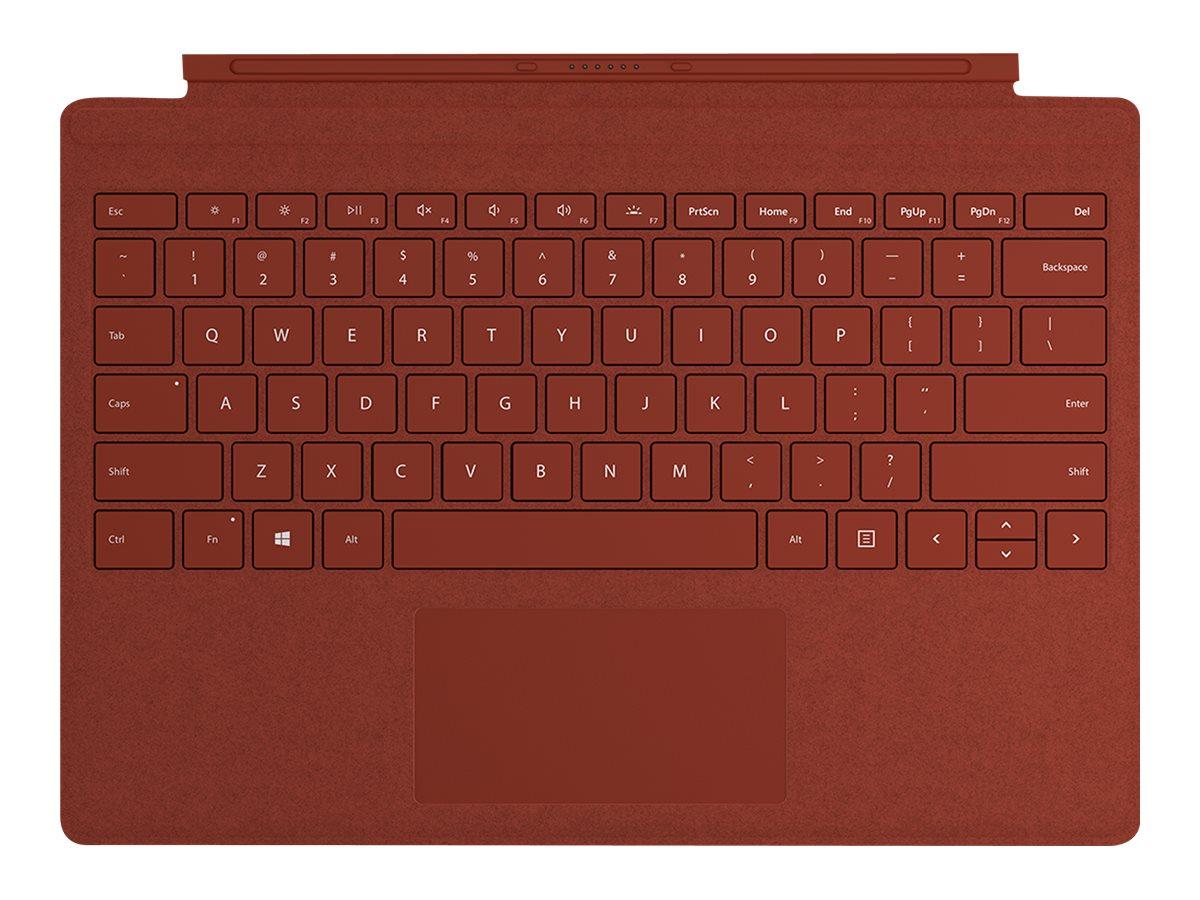 Surface Pro Signature Type Cover, Tastatur bordeaux