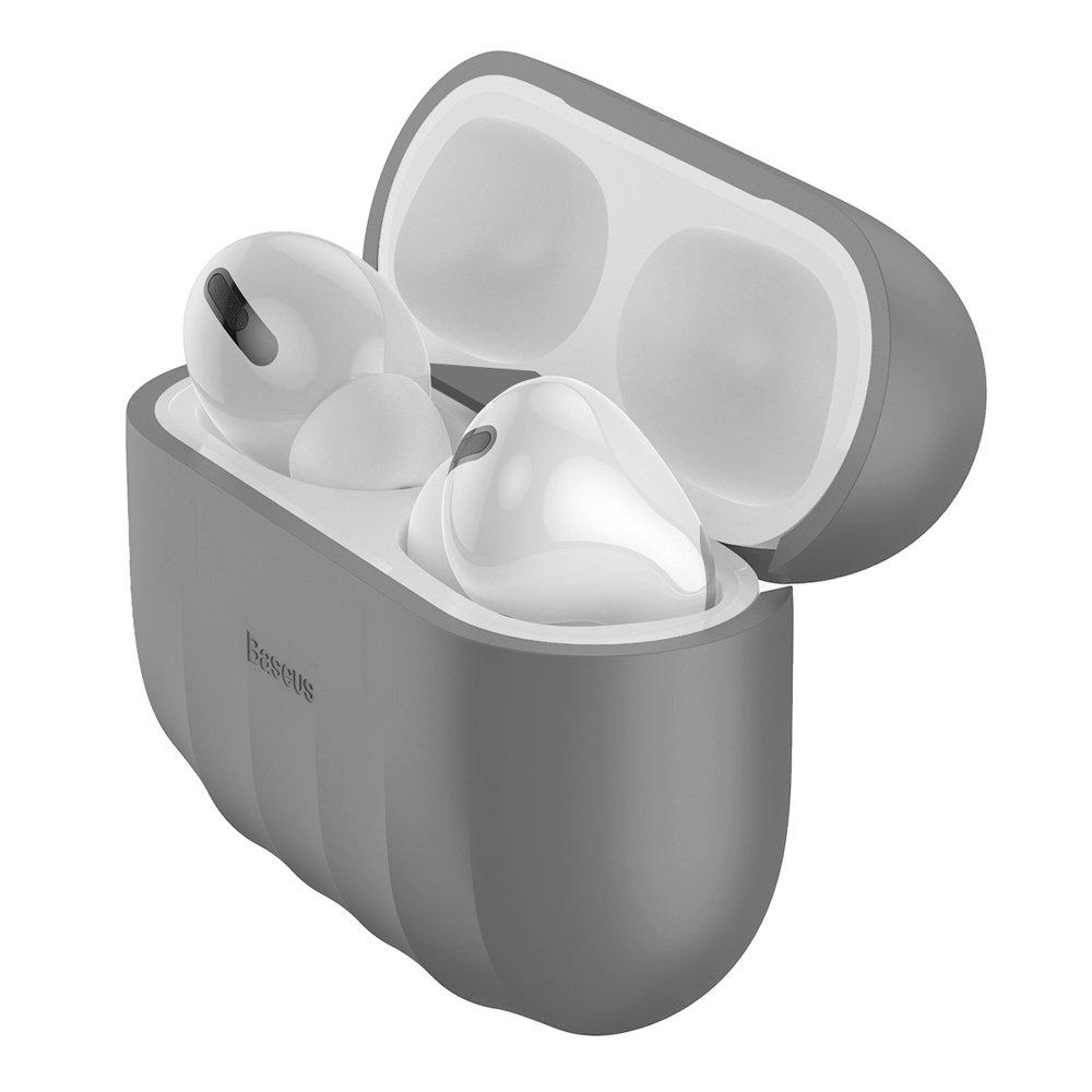 Baseus Shell Silikon Schutztasche für Apple AirPods Pro Kopfhörer grau