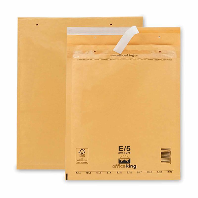 100 E5 Luftpolstertaschen Braun 240 x 275 mm
