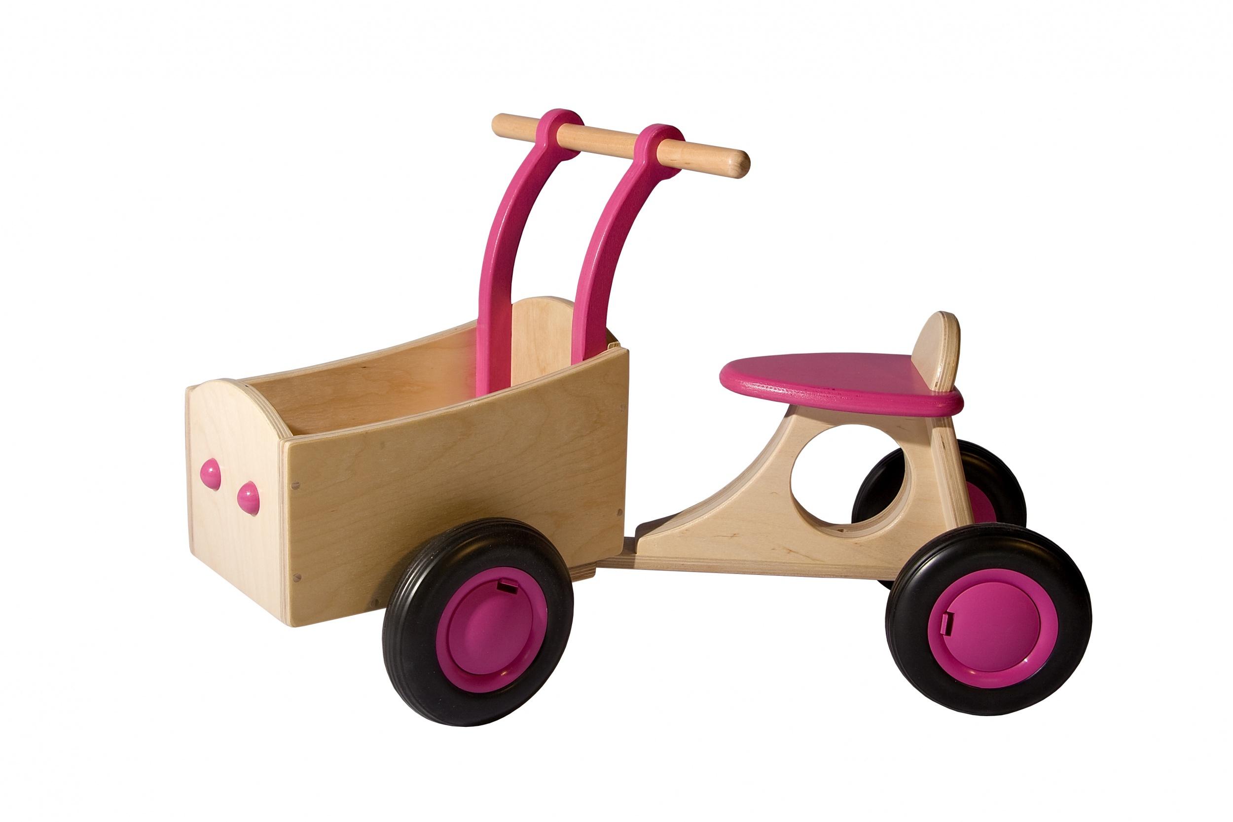 Van Dijk Toys loop-bakfiets Junior Rosa