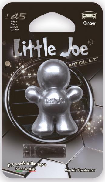 Little Joe Metallic Silber Ingwer/Ginger Lufterfrischer 45 tage duft ca.4x5x2cm
