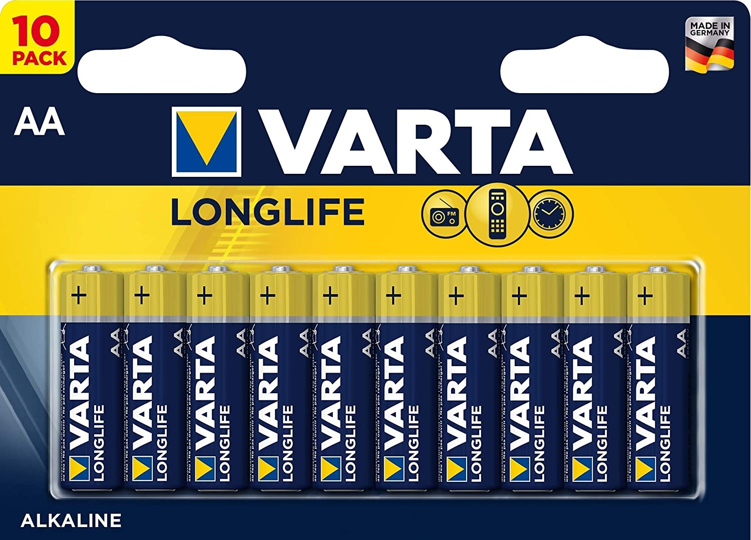 Varta Longlife, Retail Blister (10-Pack)