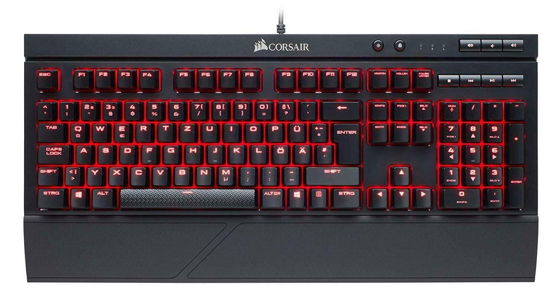 Corsair Gaming K68 Red LED, Gaming-Tastatur schwarz