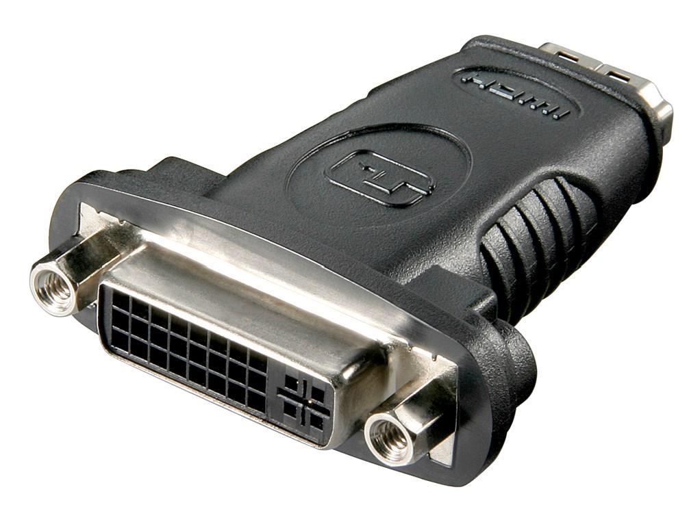 HDMI™/DVI-I Adapter, vernickelt HDMI™-Buchse (Typ A) > DVI-I-Buchse Dual-Link (24+5 pin)