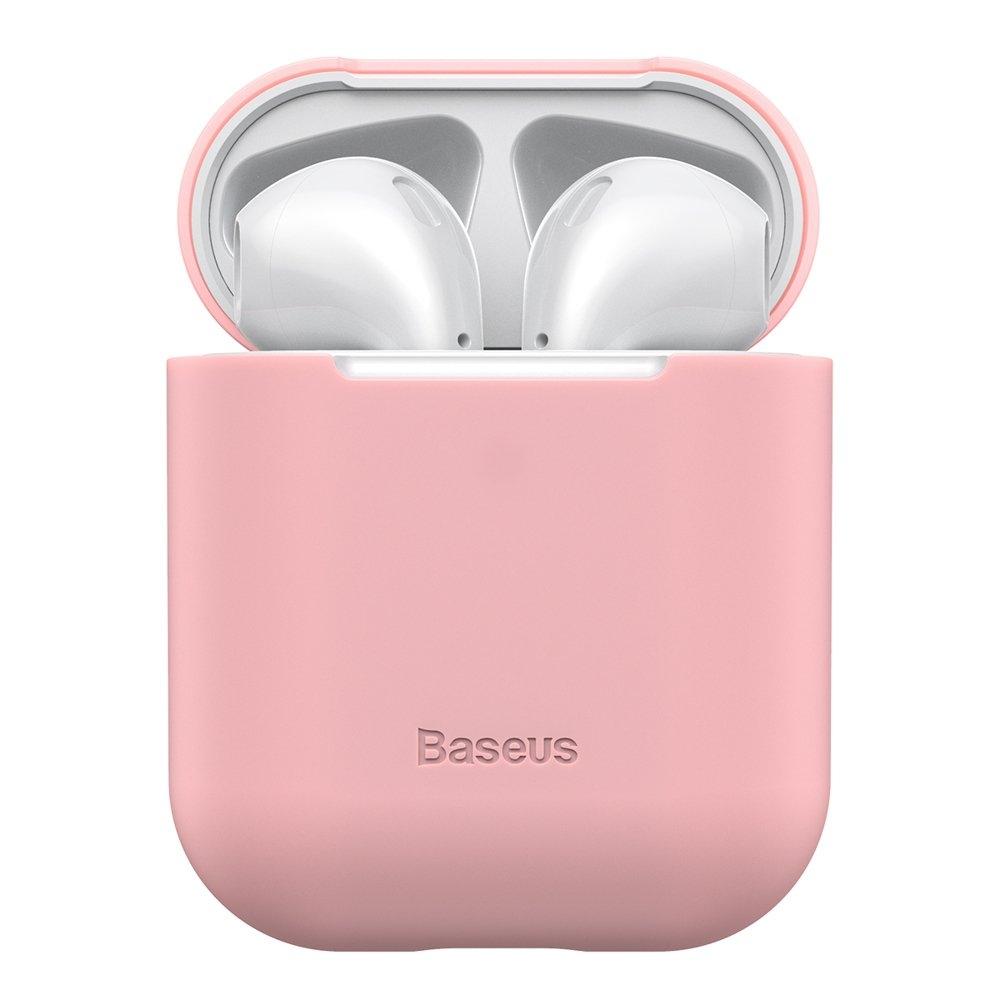 Baseus AirPods Silikon Schutztasche für Kopfhörer 2gen / 1gen rosa