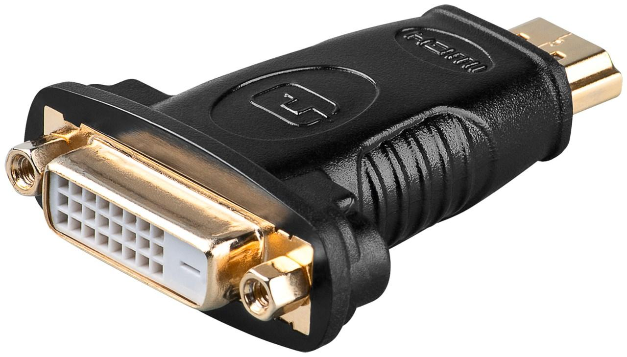 HDMI™/DVI-D Adapter, vergoldet HDMI™-Stecker (Typ A) > DVI-D-Buchse Dual-Link (24+1 pin)