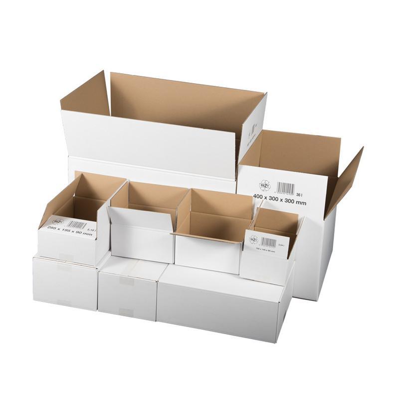 Faltkarton 1-wellig, 195x145x90mm, weiß