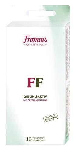 Fromms Gefühlsaktiv Kondome transparent, feucht, besonders gefühlsaktives Kondom mit Reservior 10er Packung