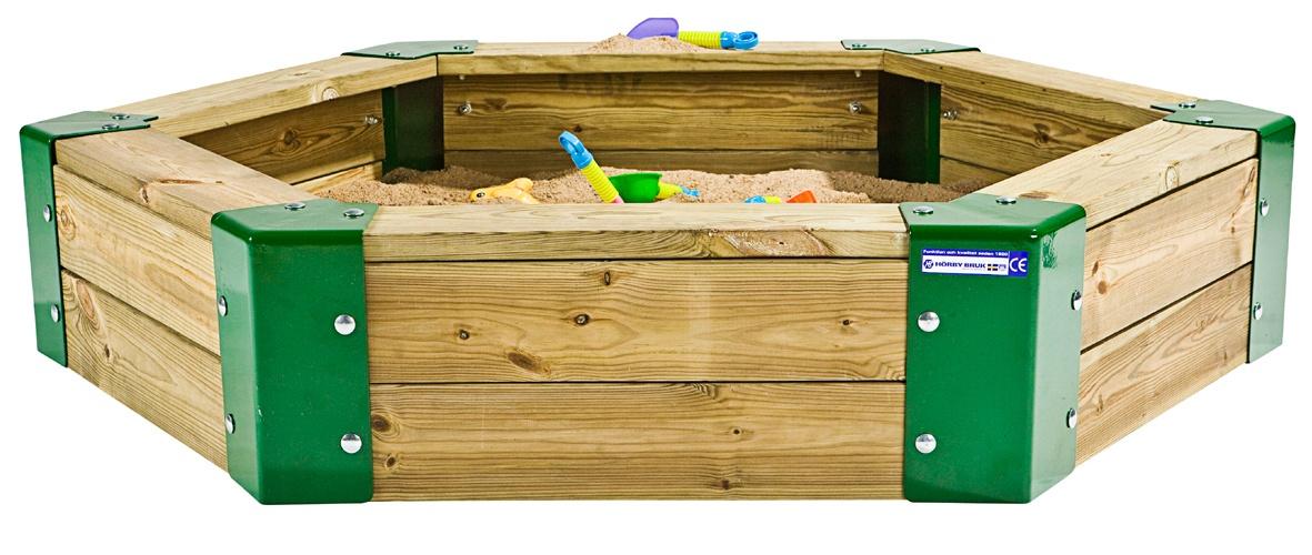 Hörby Bruk sandkasten 150 x 110 x 28 cm braun/grün