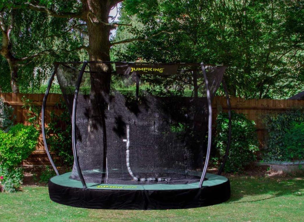 Jumpking trampolin 3InGround Deluxe,66 Meter schwarz/grün