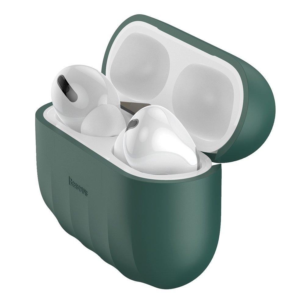 Baseus Shell Silikon Schutztasche für Apple AirPods Pro Kopfhörer grün