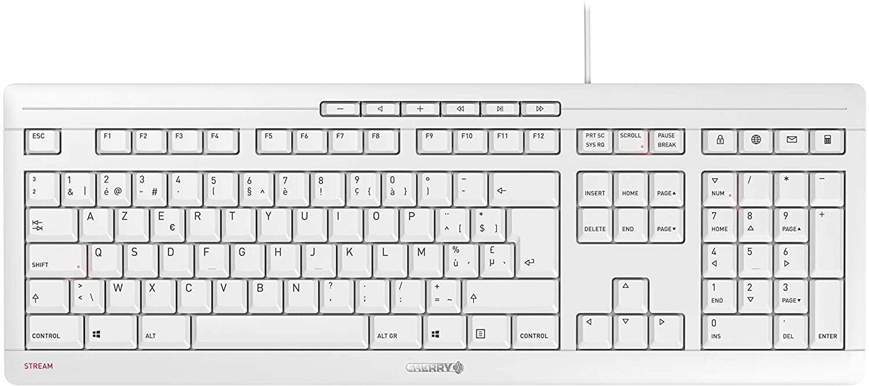 CHERRY Tastatur - Modell: Cherry STREAM KEYBOARDWeiß Belgisches Layout