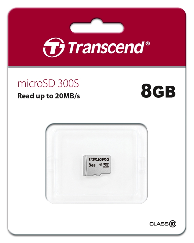 300S 8 GB microSDHC, Speicherkarte